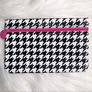 Ipsy Glam Bag 💄 Houndstooth & Pink Makeup Bag
